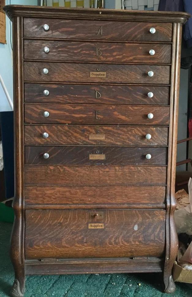 Ncr National Cash Register 1909 Antique Tiger Oak Register