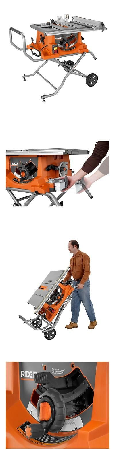 Table Saws 122835: Ridgid 15 Amp 10 In. Heavy-Duty Portable Table Saw With Stand R4513 New -> BUY IT NOW ONLY: $320 on eBay!