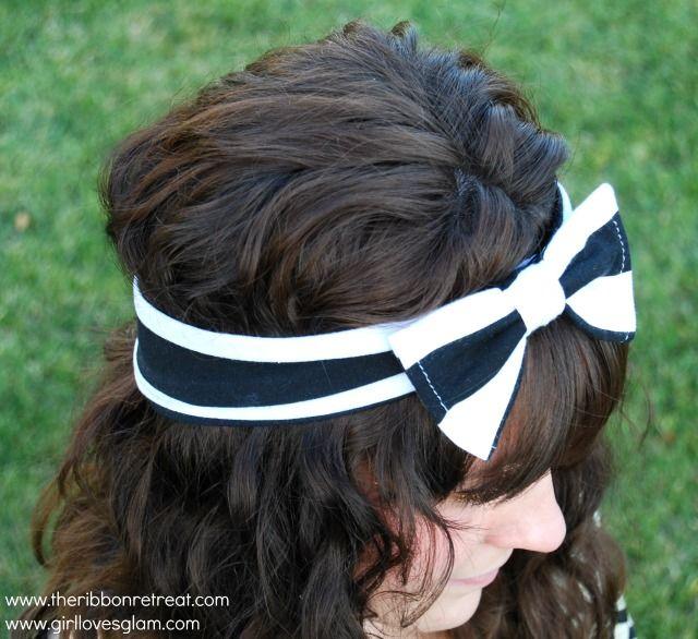 Big Bow Head Wrap Tutorial