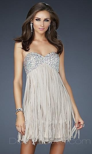 Found my short dress for semi formal. Just have to have it altered. So cute. In Champaign color.