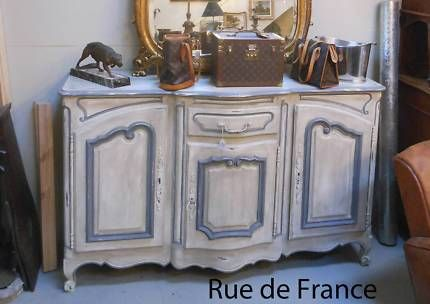 ANTIQUE FRENCH PROVINCIAL PAINTED FINISH  BUFFET - SIDEBOARD