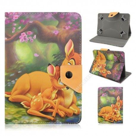 Funda para tablet de 10 pulgadas diseño Bambi con su mamá