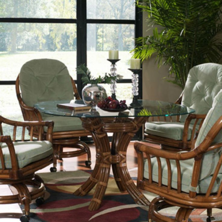23 Best Indoor Wicker And Rattan Dining Sets Images On Pinterest Adorable Indoor Wicker Dining Room Sets Design Inspiration