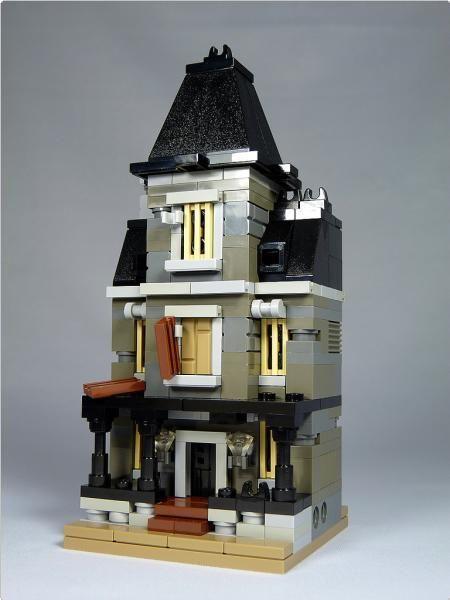 "LEGO Mini Modulars - MOC: ""Haunted House""   ReBrick"