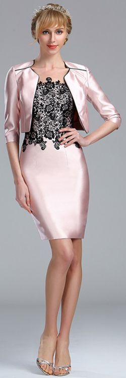 eDressit Light Pink Two Piece Mother of the Bride Dress