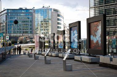 Outside Berlaymont, Bruselles Royalty Free Stock Photo