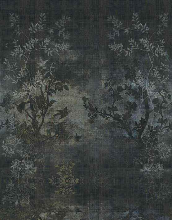 Wallpaper with floral pattern MIDSUMMER NIGHT Life! 15 Collection by Wall