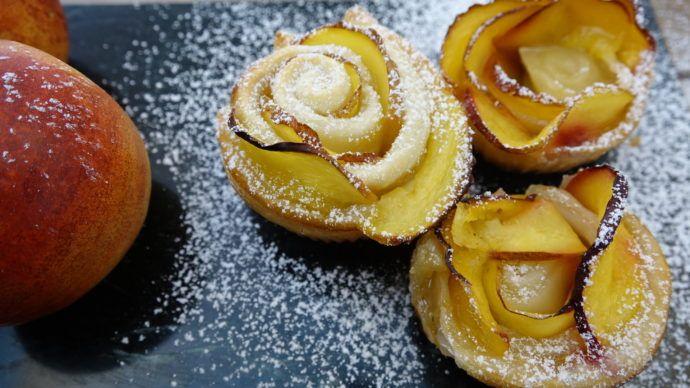 Smukke ferskenroser med bare tre ingredienser
