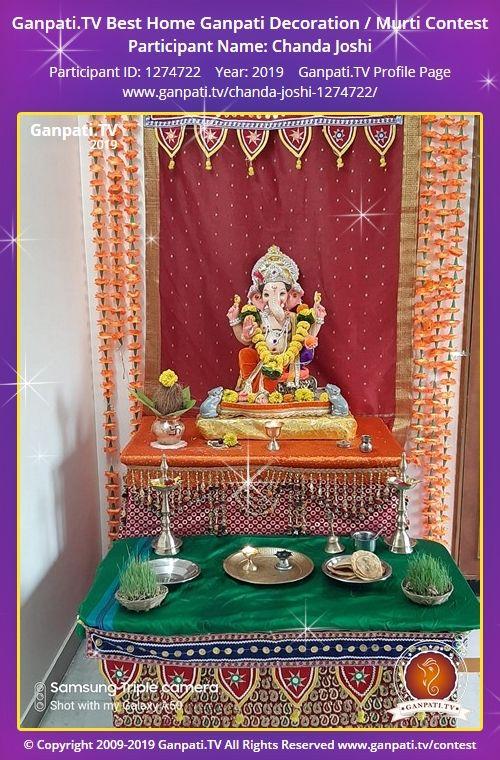 Chanda Joshi Ganpati 2019 Decorating With Pictures Festival