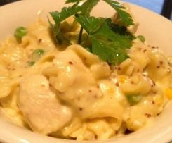 THERMO: Creamy chicken and mustard pasta