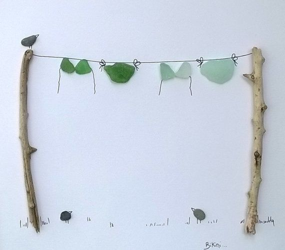 Sea Glass and Pebble Art Limited Edition Bikini by TwoKissingFish