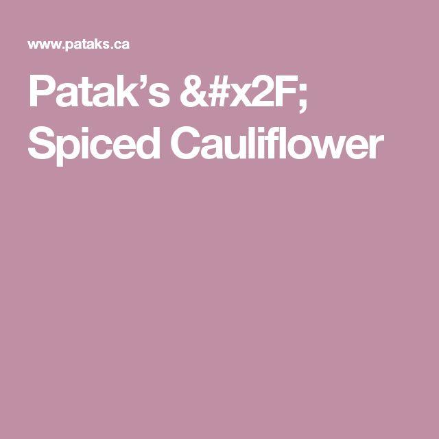 Patak's / Spiced Cauliflower