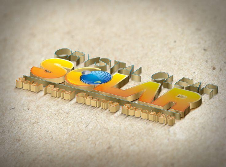 Crystal Clear Solar 3d Gold Logo