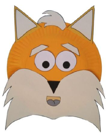 paper plate fox craft - Dklt Crafts