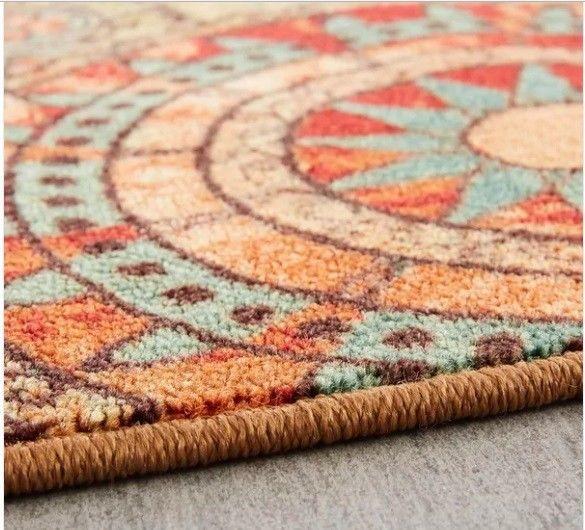 5' x 8' Indoor/Outdoor Carpet Printed Medallion Rug #PorchDen