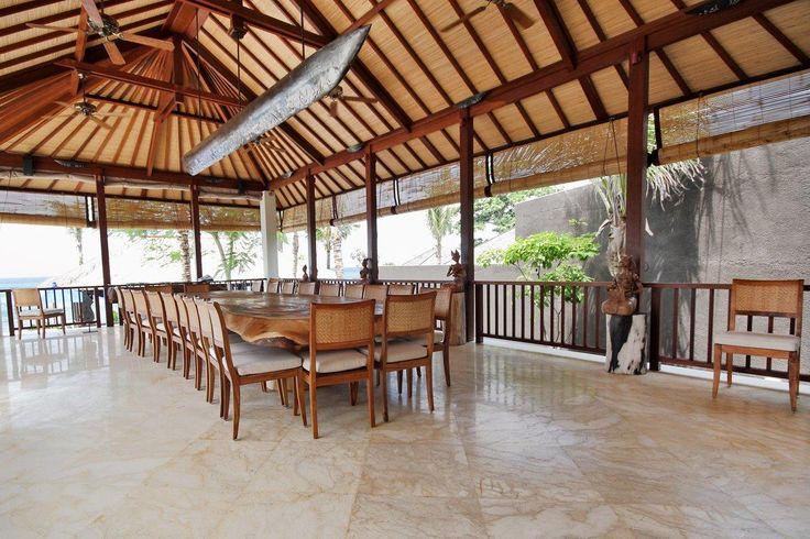Puri Salila (6+2 bedroom) dining pavilion #Anapuri #Bali