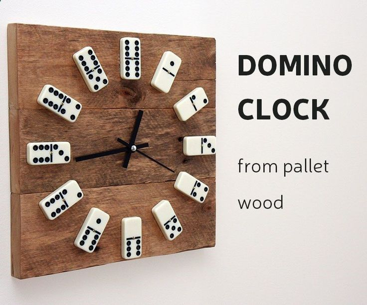 This time Ill show you, how to make a clock from reclaimed pallet wood and use domino tiles instead of numbers.How I did it - you can check by looking DIY video or you can follow up instructions bellow. For this project you will need: Materials:Pallet board Epoxy glueVarnishBrushDomino tilesClock movement mechanism Wood glueFew wood screwsTools: Miter saw or hand sawTable saw or hand planerDrill and bits ScrewdriverClamps #mitersaw