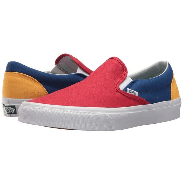 Vans Classic Slip-Ontm ((Vans Yacht Club) Red Blue Yellow) Skate ... 4707e2268