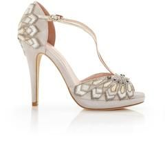A bridal shoe that encompasses all that is wonderful about art deco detail, style and glamour.