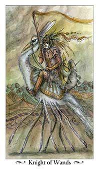 Knight of Wands Tarot Card - Paulina Tarot Deck