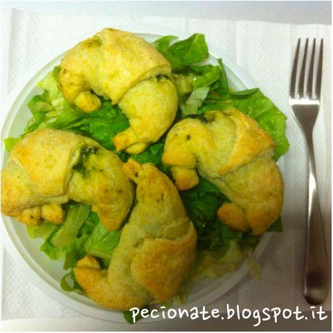 Le pecionate: Cornetti salati agli spinaci #iomiportoilpranzodacasa