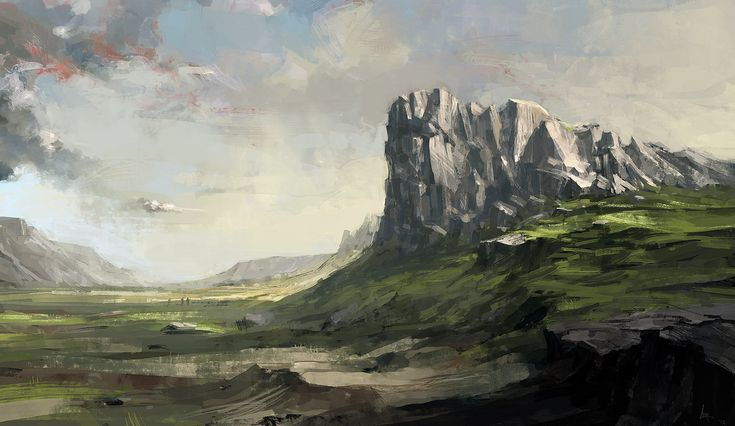 Cliff, Asgeir Jon Asgeirsson on ArtStation at https://www.artstation.com/artwork/L338l