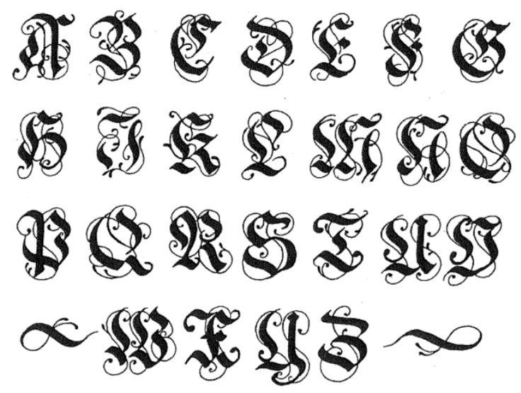11 Medieval Font Alphabet Images