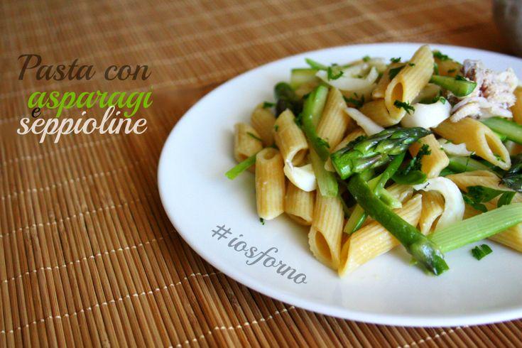 Pasta con asparagi e seppioline