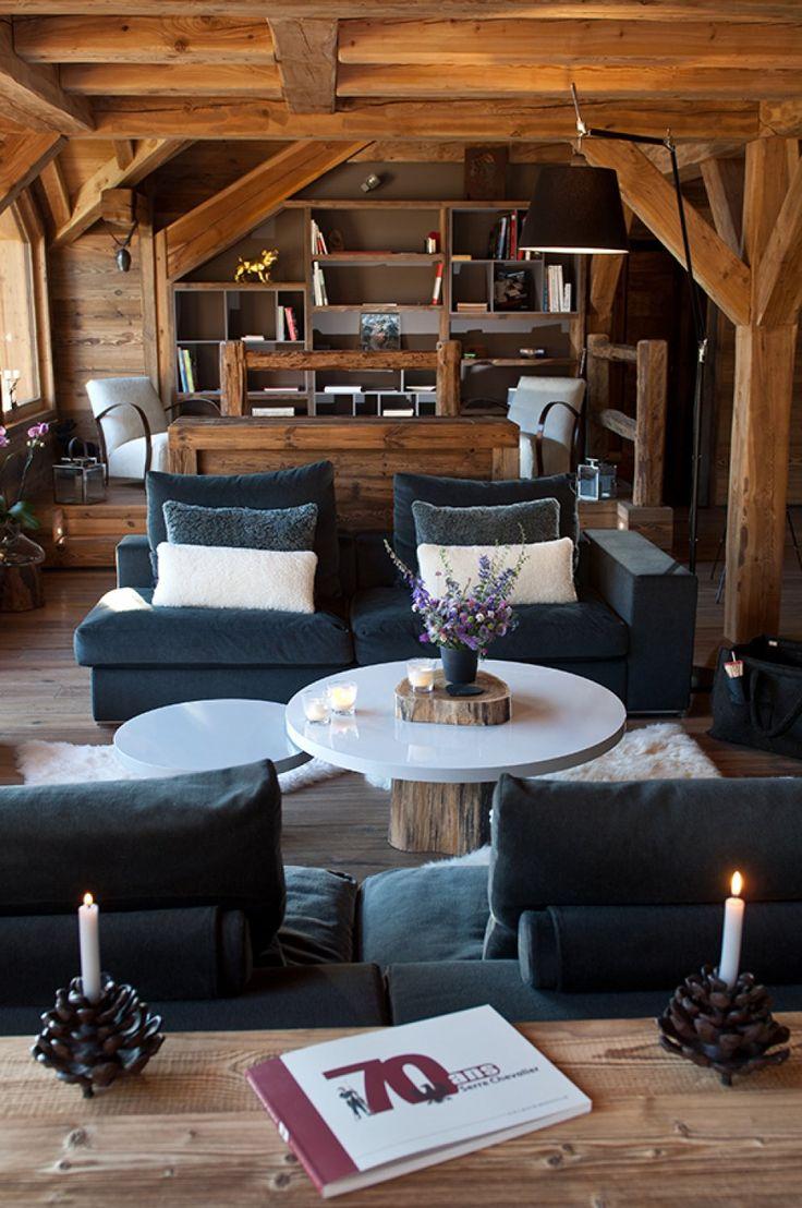 2582 best images about architecture chalet on pinterest - Photo interieur chalet montagne ...