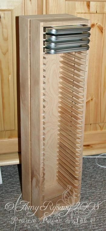 Wooden CD Holder Plans | ... before they came here for Christmas - it's called a BOALT CD rack