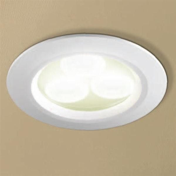 HiB Warm White LED Showerlight - White or Chrome