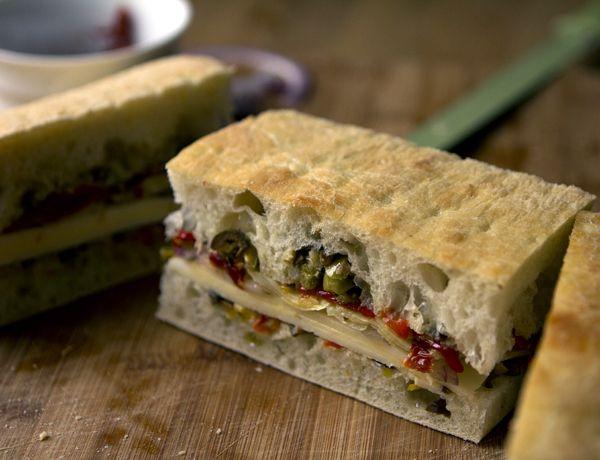 """ Meatless Muffuletta "" #vegetarian #recipe"