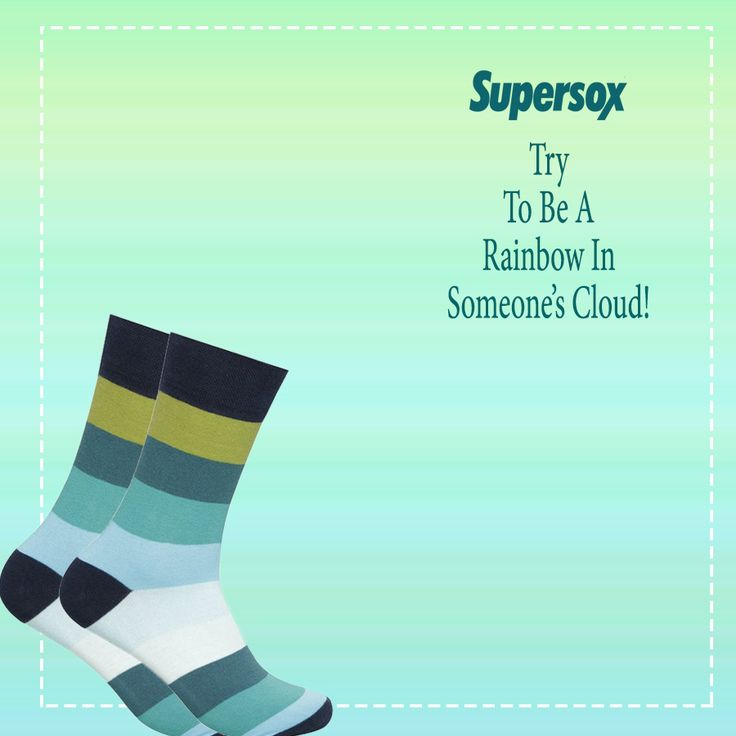 #RainbowSocks by #Supersox 🤓. Check them out on our website!