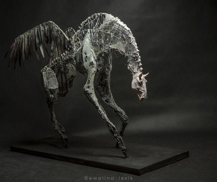 Pegasus by Ewelina Lesik (sculpture, height 78cm, lenght 100cm, 2014)