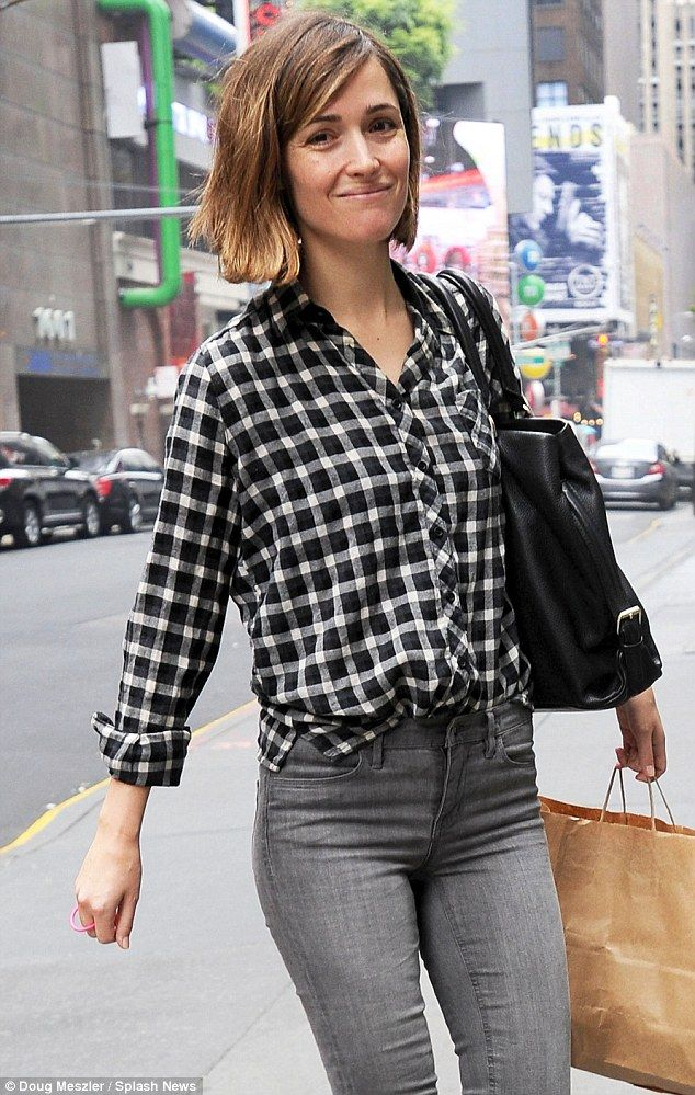 No makeup, no problem: Actress Rose Byrne was seen arriving at the Longacre Theater in NYC on Saturday for previews of her first Broadway play, You Can't Take It With You