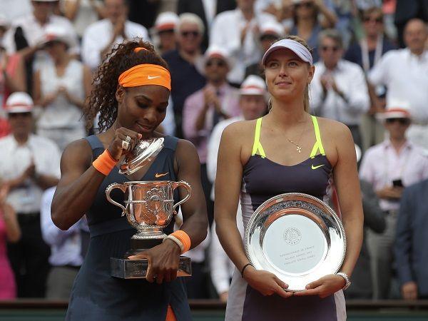 Serena Williams and Maria Sharapova - Roland Garros 2013