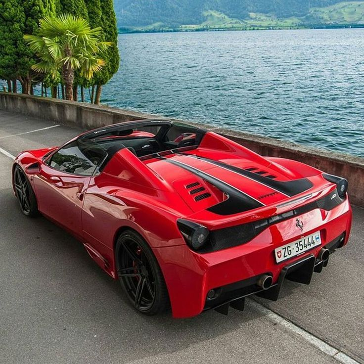 Red Ferrari 488 Spider Surrounded With Stunning Mountain Nature Of