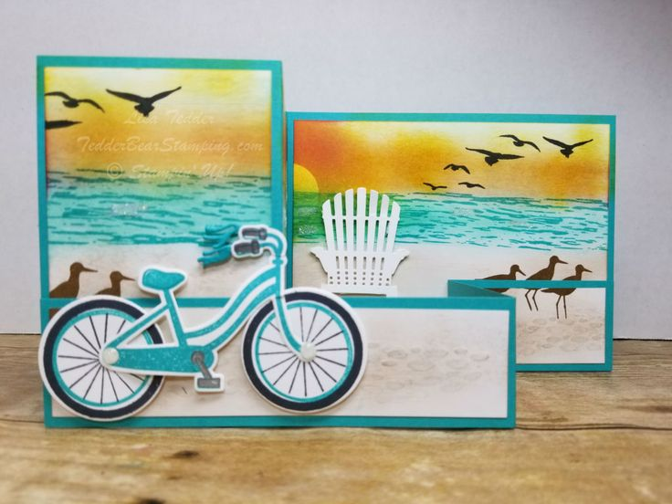 How many stamp sets can one card have?? I'm using the very fun sets from SU!, High Tide, Bike Ride and Colorful Seasons! Check out my blog for more info!