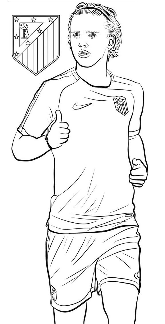Antoine Griezmann Soccer Football Player Coloring Page Sports Coloring Pages Soccer Fans Coloring Pages For Kids