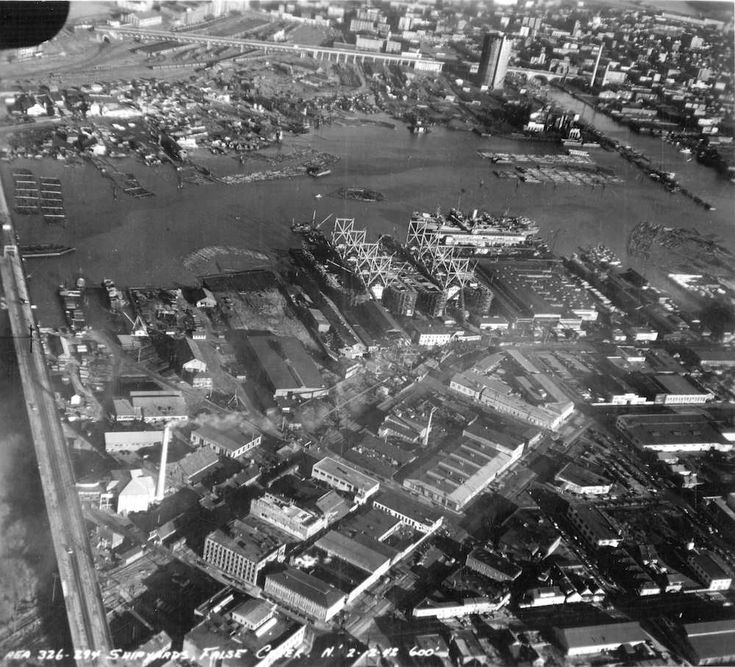 Old Aerial Photo of Vancouver AV-10