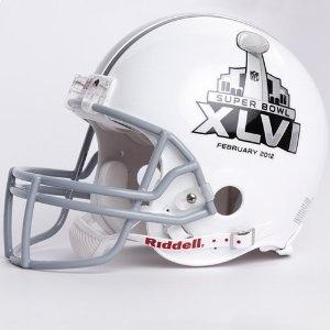 NFL Riddell Proline Authentic Helmet - Super Bowl 46 Logo #sports equipment #football helmets #super bowl