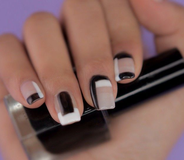 Finished Product | Super Easy Geometrical Negative Space Nails You Can Wear on Your Date