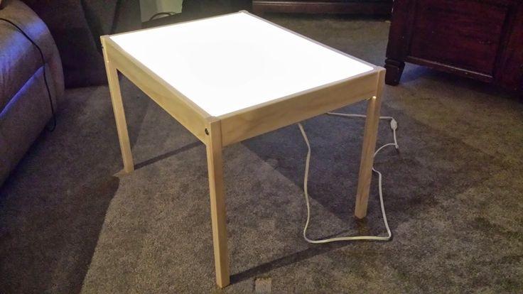Hobby Mommy Creations: DIY Light Table - IKEA Hack