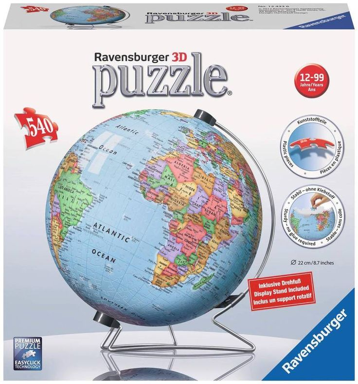 8 best ravensburger images on pinterest puzzles 3d puzzles and globes new 3d jigsaw puzzle 540 piece puzzleball ravensburger globe map ravensburger gumiabroncs Image collections