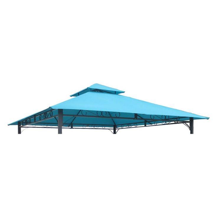 International Caravan Mesa 10 ft. 2-Tiered Vented Outdoor Gazebo Canopy Replacement Top