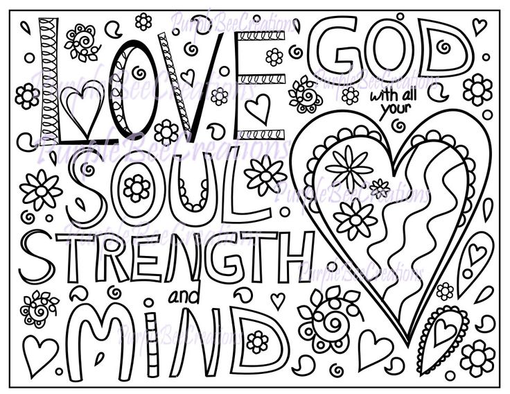 coloring page bible verse coloring page love god  all