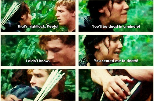 Gotta love when Katniss flips out on Peeta... bahahahahah D'X