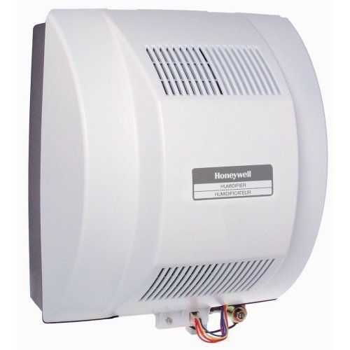 Honeywell Whole House Fan-Powered Humidifier w/ Installation Kit HE360A1075 by Honeywell. $199.95. Put an end to desert-like air in your home that leads to dry skin, carpet shock, cracking woodwork, and more. Reliable Honeywell whole-house humidifiers work with your home's furnace to maintain a proper, comfortable humidity level throughout the home. This humidifier provides fan-powered flow-thru and whole house humidification with low maintenance. The humidifier m...