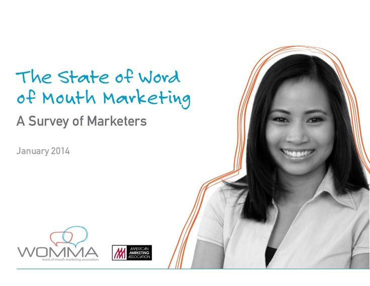 "To download the full survey report visit http://www.womma.org/stateofWOMM Word of mouth marketing is more effective than ""traditional"" marketing according to 6…"