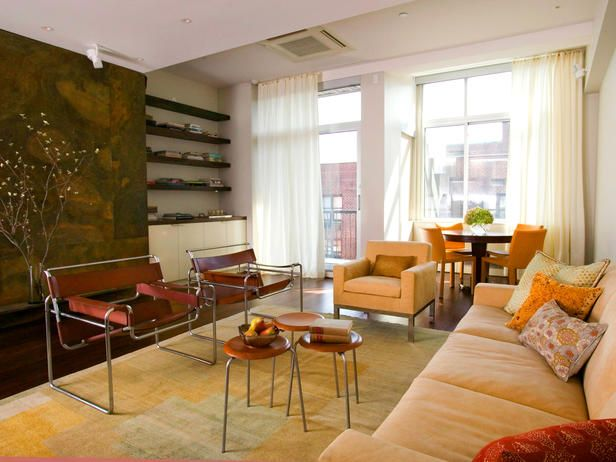 All Shapes And Sizes: Stuck With A Long, Narrow Living Room? Area Rugs